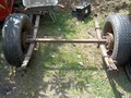 Sprung trailer chassis with 2 land rover wheels for sale