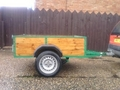 wood and metal trailer for sale